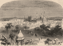 DELHI. View of the city with the Jama Masjid (Great Mosque)  1882 old print